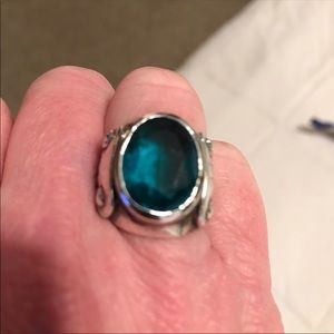 Jewelry - Sterling silver w/ blue topaz
